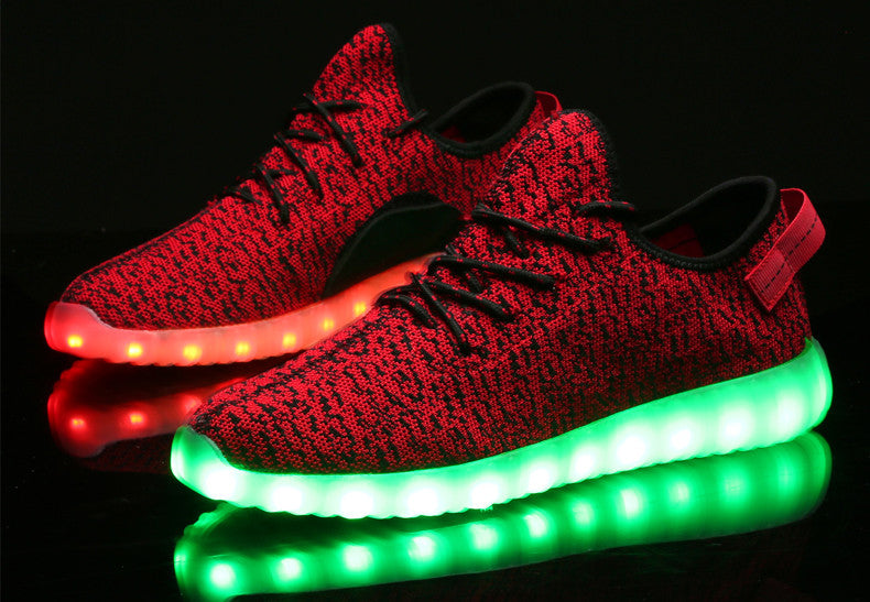 Red LED Light Up Shoes by Rave KixX!! Hottest style of 2016-17!