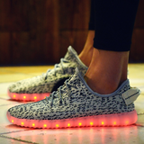 Grey LED Light Up Shoes by Rave KixX!! Hottest style of 2016-17!