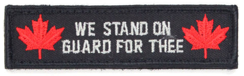 "Canada ""We Stand on Guard for Thee"" Velcro Morale Patch with Maple Leafs"