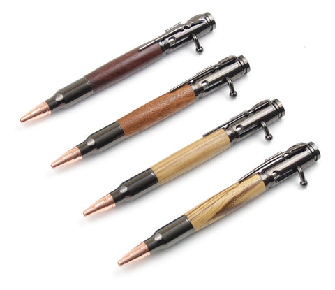 Bolt-Action Pens with Wood Furniture