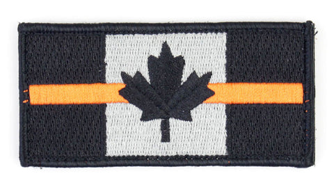 Canada Flag Velcro Morale Patch with Thin Orange Line