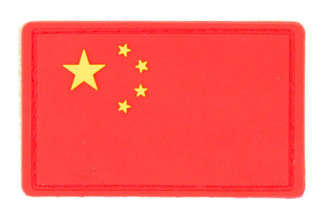 Chinese Flag Velcro Morale PVC Patch