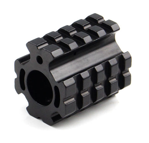 Gas Block with Quad Picatinny Rails (Set Screw Attachment)