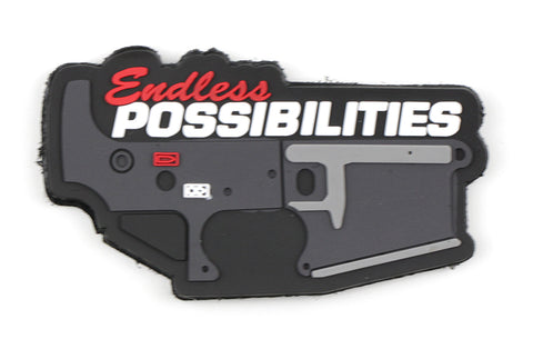 "AR-15 ""Endless Possibilities"" Morale PVC Patch"