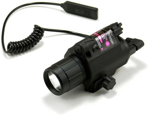Flashlight/Laser Combo with Remote Switch Picatinny Rail