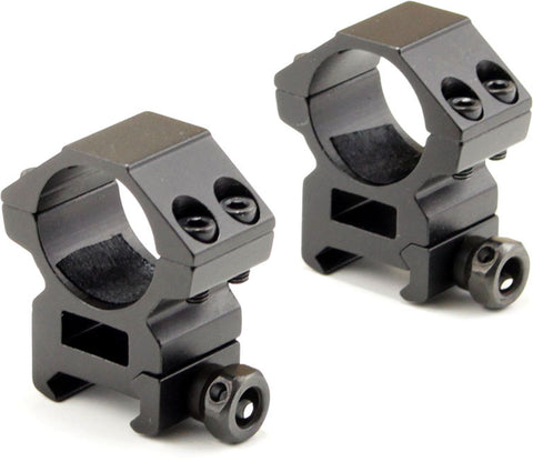 1-inch Scope Rings with See-Through Area