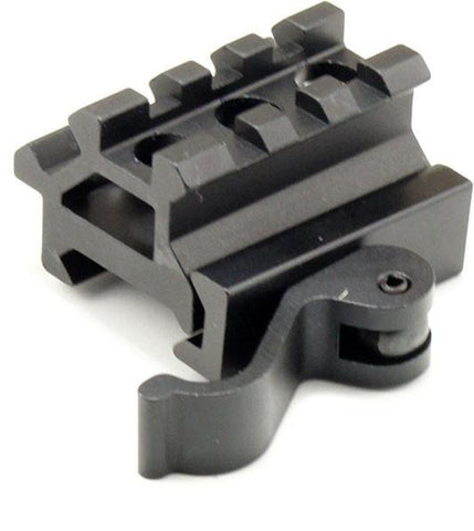 Quick-Release Two-position Mini Picatinny Rail (45-Degree or Elevated)