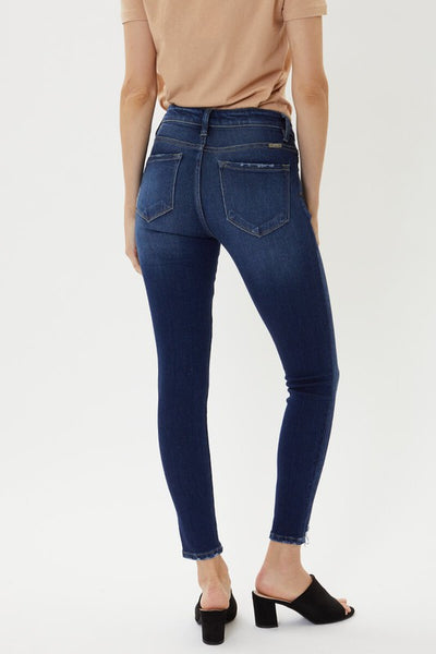 KanCan Mid Rise Distressed Ankle Skinny