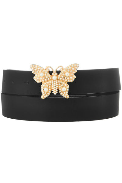 Pearly Butterfly Buckle Belt