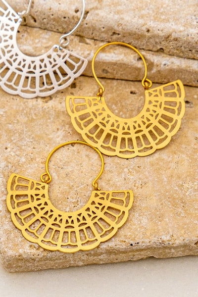 Fan Shape Earrings