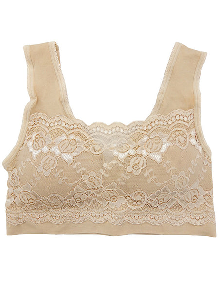 Lace Overlay Bralette - Snazzies INC