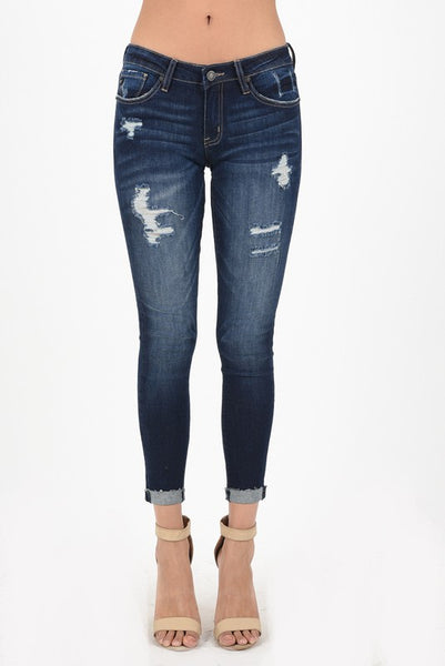 KanCan Mid Rise Ankle Skinny Stretch Jeans