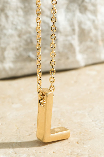 Initial Pendant Necklace