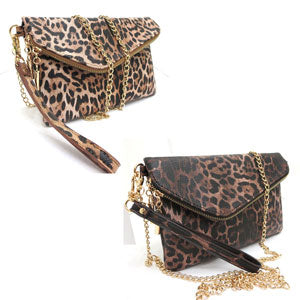 Leopard Clutch/Shoulder Bag