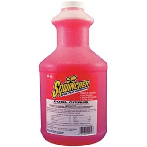 Sqwincher Liquid Concentrate, 64 oz Bottle, Strawberry Lemonade