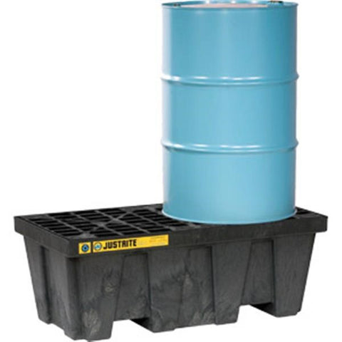 EcoPolyBlend Spill Control Pallet, 2-Drum, 66 gal Sump Capacity