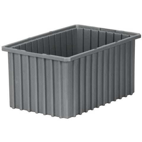 "Akro-Grid Dividable Grid Container, 16 1/2""L x 5""H x 10 7/8""W, Clear"