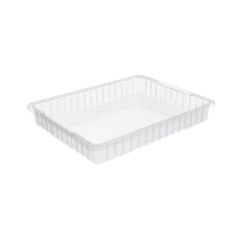 "Akro-Grid Dividable Grid Container, 22 1/2""L x 12""H x 17 1/2""W, Clear"