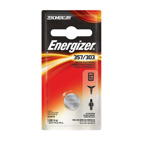 Energizer 357 Battery, 1/Pkg