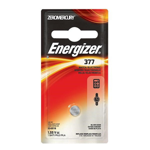 Energizer 377 Button Cell Battery, 1/Pkg
