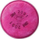 3M 2091 Particulate Filter P100 Respiratory Protection, 2 Pk