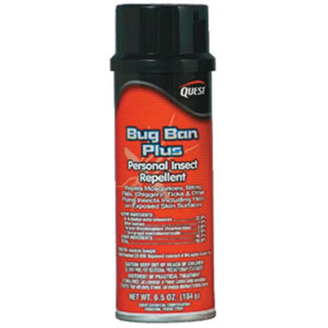 Bug Ban Plus Insect Repellent, 6.5 oz Aerosol