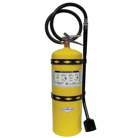 Amerex 30 lb Sodium Chloride Extinguisher w/ Brass Valve & Wall Hook