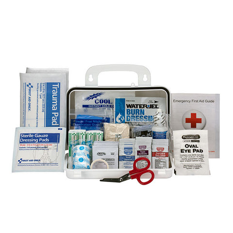 10-Person, Bulk ANSI A Weatherproof First Aid Kit, Plastic