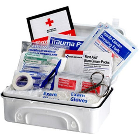 10-Person, 96-Piece Contractor First Aid Kit (Plastic)