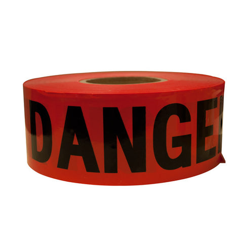 "TruForce Barricade Tape, ""DANGER"", Red/Black"
