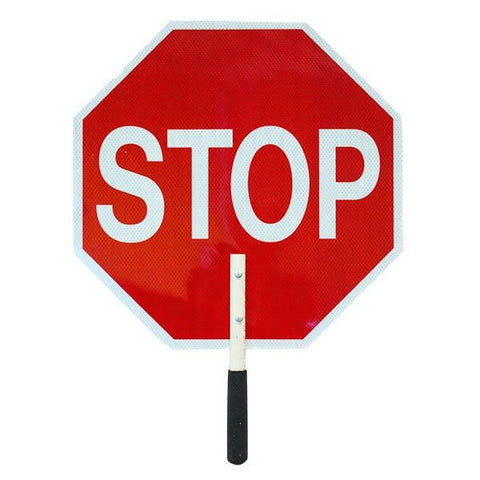 Stop/Slow Traffic Paddle, Plastic
