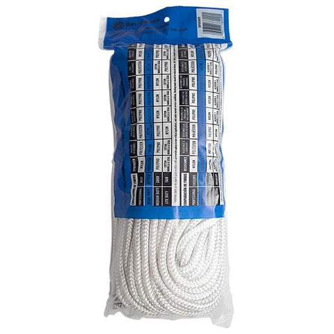 "Heavy-Duty Solid Braided Polyester Rope, 1/4"" x 100', Bag"