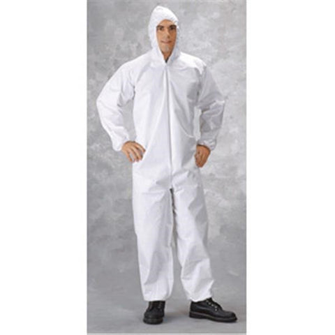 MicroMax Coveralls w/ Front Hood, Boots, & Elastic Wrists
