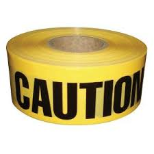 "TruForce Barricade Tape, ""CAUTION"", Yellow/Black"