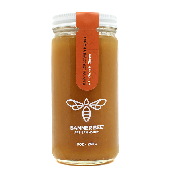 Ginger Enriched Raw Honey