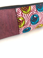 ankara pencil case closeup