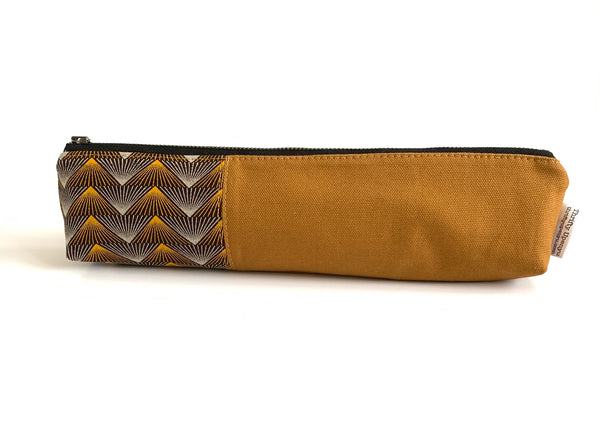 Long Pencil Case, African Print Fabric Bag | Thrifty Upenyu