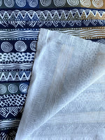 Navy African Hand Crafted Home Decor Fabric - Kudhindha Fabric | Thrifty Upenyu