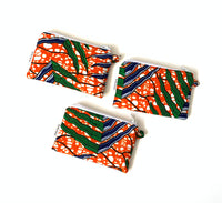 orange green cloth coin purse