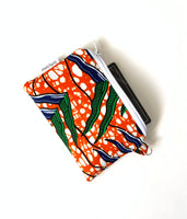 orange green small change purse