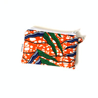 orange green small coin purse