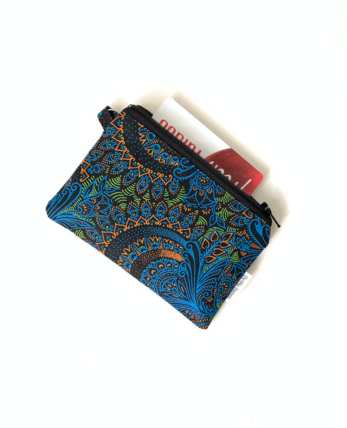 shweshwe  mini zipper pouch