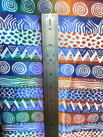 to scale african tribal textile