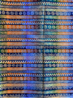 tribal african upholstery fabric close up