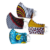 colorful african fabric face mask