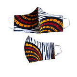 multicolor african fabric face mask