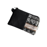 black small zipper coin purse