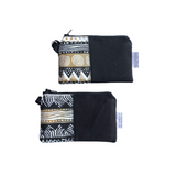 black small zipper coin pouches