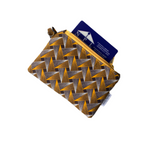 brown yellow shweshwe coin purse