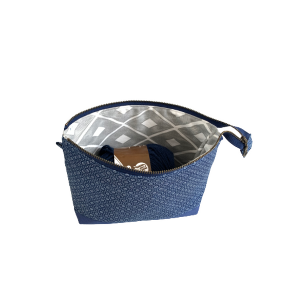 small project bag blue shweshwe